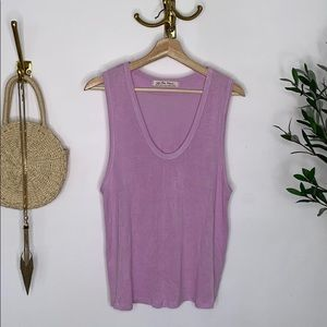Free people light pink flowy top size M